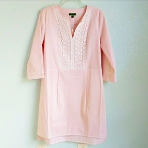 C. WONDER | NWOT Pink & White Tunic Dress …